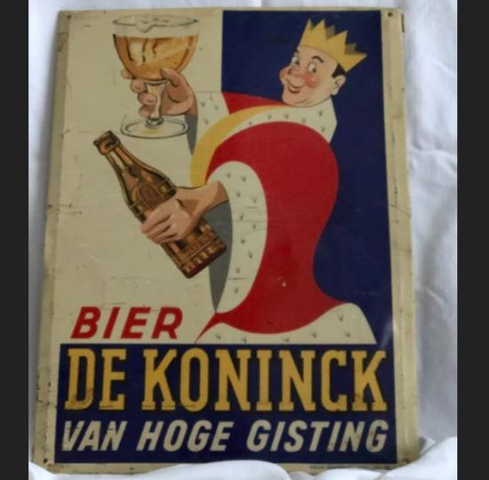 Afbeeldingen van COLLECTOR SERIES Blikken reclame bord DE KONINCK BIER