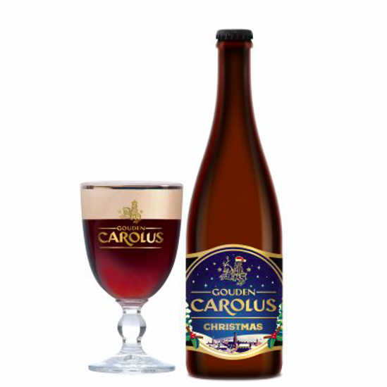 Picture of Gouden Carolus 75cl Christmas + 2 Glazen