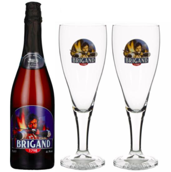 Afbeeldingen van Brigand 75cl + 2 glazen