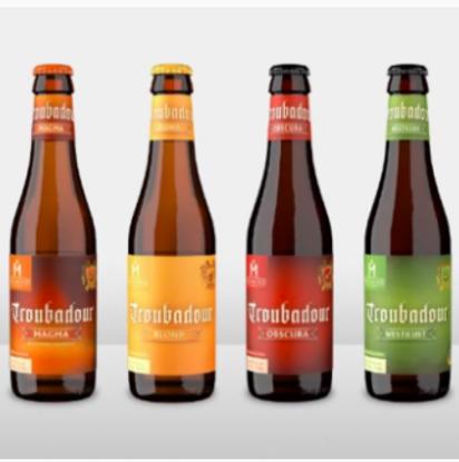 Afbeeldingen van Beerbox Troubadour Mix 12x33cl + Glas