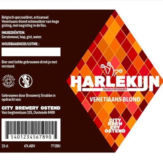 Picture of Harlekijn Venetiaans Blond 6% 1x33cl