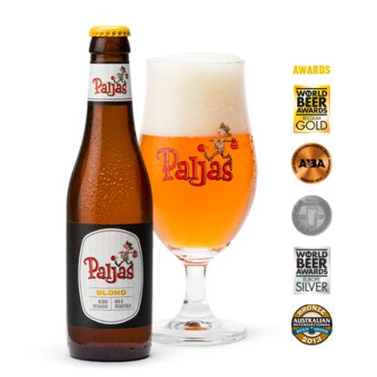 Afbeeldingen van Paljas Blond 6% 24x33cl + 4 glazen GRATIS