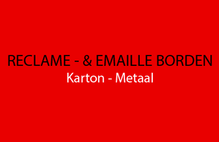 Afbeelding voor categorie Reclame - & Emaille borden