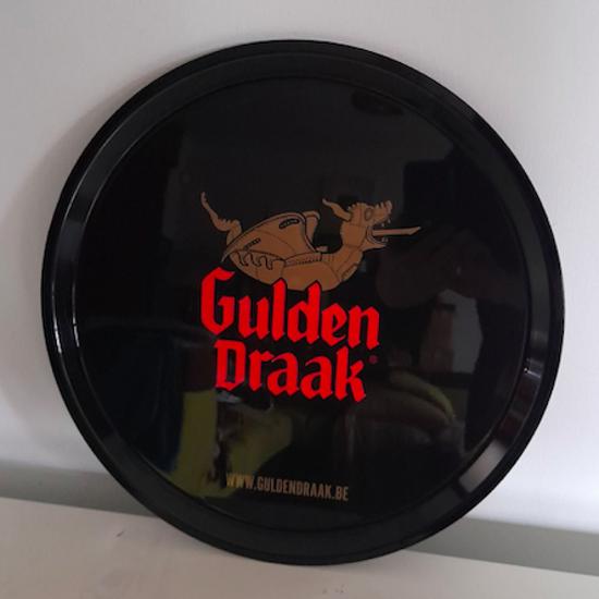 Afbeeldingen van Gulden draak dienblad black